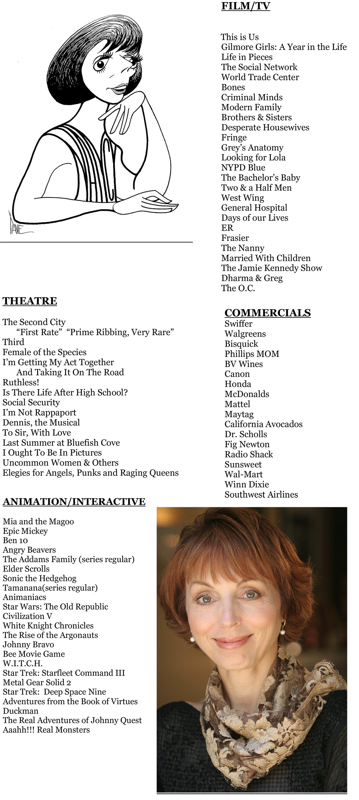 Nancy Linari credits resume